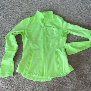 Lululemon neon green define forme jacket 8